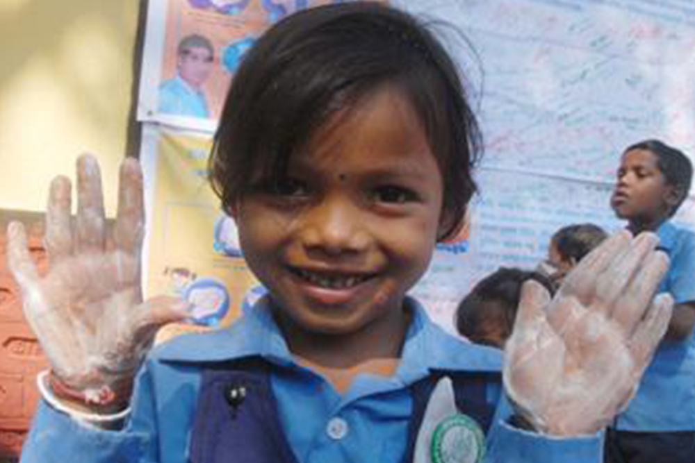Clean hands help tackle malnutrition