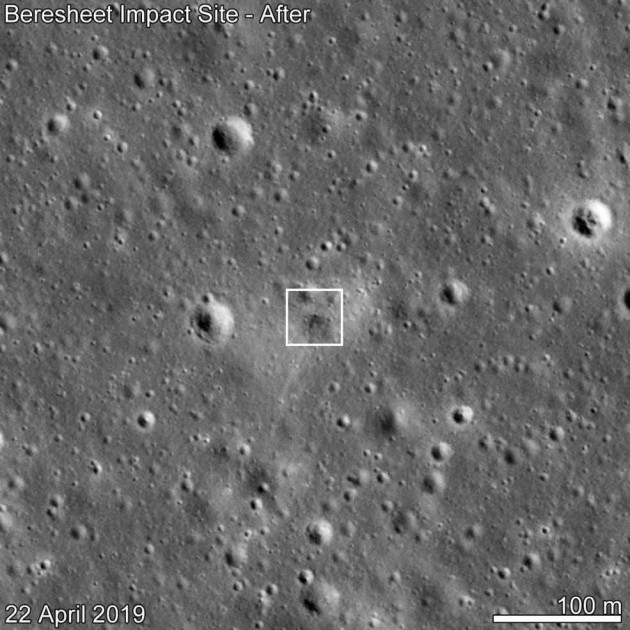 NASA Spots An Israeli Spacecraft's Crash Site On Moon's Surface