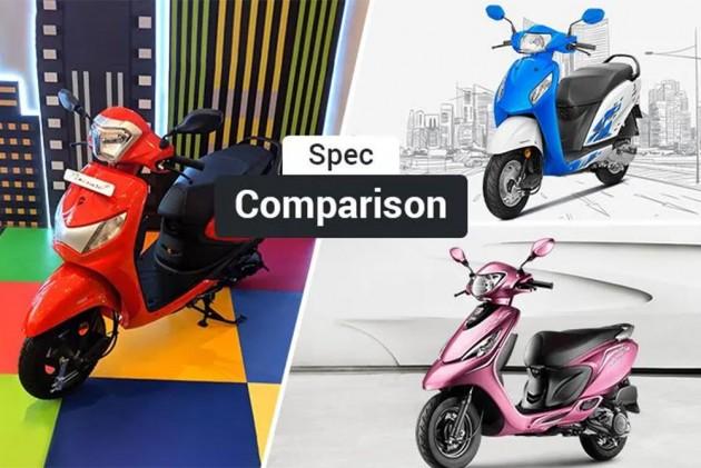 Hero Pleasure Plus 110 vs Honda Activa i vs TVS Scooty Zest: Spec Comparison