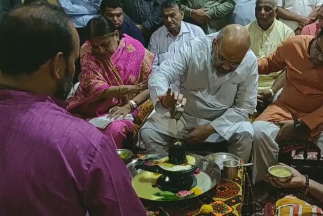 Amit Shah Offers Prayers At Somnath Temple In Gujarat