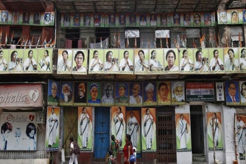 TMC Office Wears Deserted Look After Exit Polls Paint Bengal Saffron