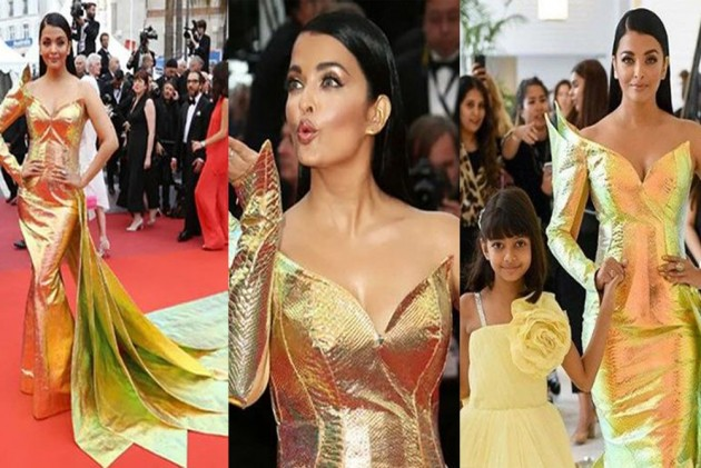 Aishwarya Rai's Golden Dress At Cannes Film Festival Doesn't Impress Much