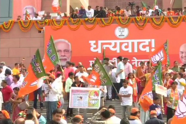 BJP Headquarters Echoes With 'Modi Modi' Chant As NDA Heads