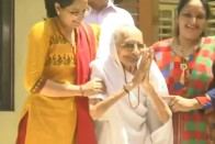Smiling Heeraben Greets Supporters As Son Narendra Modi Set For Second Term