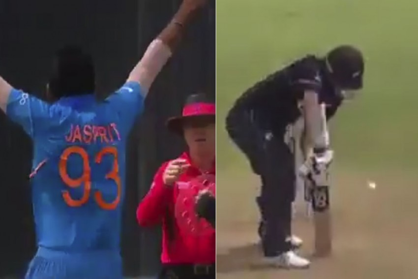 ICC Cricket World Cup 2019, IND Vs NZ Warm-Up: Jasprit Bumrah's Sizzling Yorker Lights Up India's Gloomy Day  – WATCH