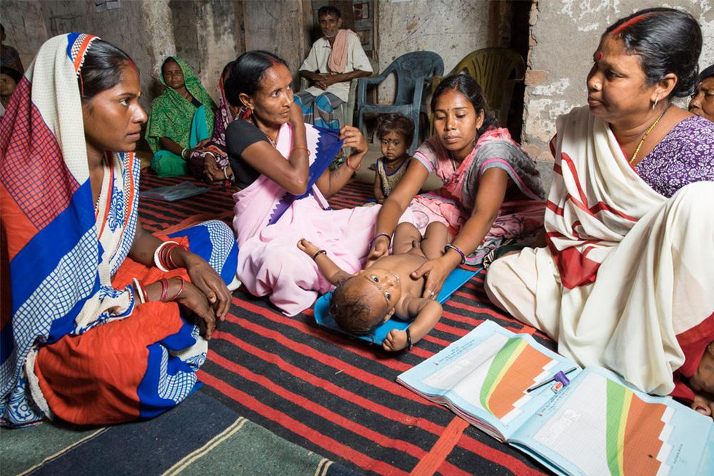 Young mothers at an Anganwadi
