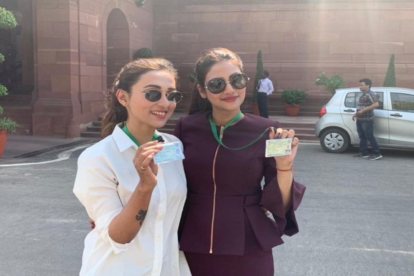 TMC MPs Mimi Chakraborty, Nusrat Jahan Trolled For Wearing Western Attire On First Day To Parliament