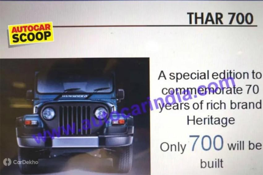 Mahindra Thar Signature Edition Celebrates 70 Years Of The Legendary SUV