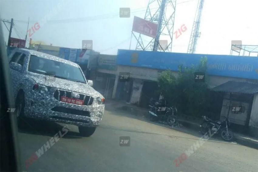 2020 Mahindra Scorpio Spied Testing Again; Looks BIG!