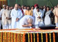 PM Modi Pays Tributes To Mahatma Gandhi, Atal Bihari Vajpayee Ahead Of Swearing In