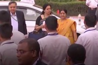 Sushma Swaraj Missing From Dais For Ministers
