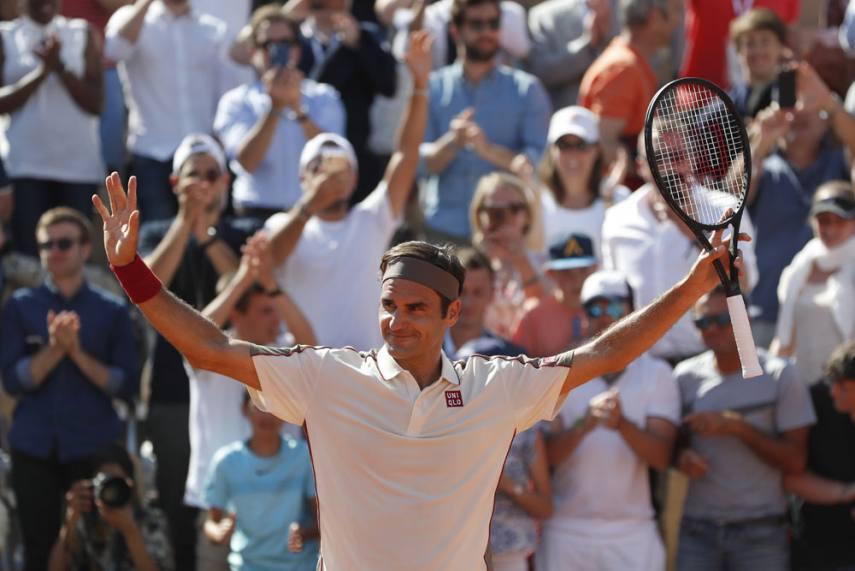 French Open 2019 Roger Federer Downs Casper Ruud In 400th Grand Slam Singles Match