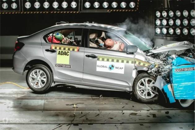Made-In-India Honda Amaze Scores 4 Stars In Global NCAP Crash Test