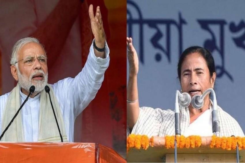 Modi Dares Mamata To Arrest Him For Chanting 'Jai Shri Ram'; She Hits Back