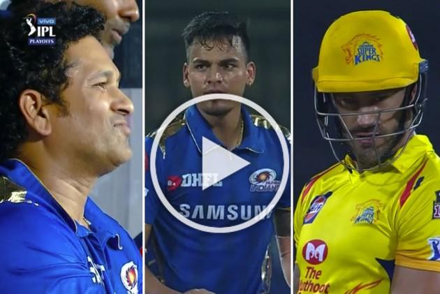 IPL 2019 Qualifier 1, CSK Vs MI: Rahul Chahar Makes Sachin Tendulkar Proud With Faf Du Plessis' Wicket Off First Ball
