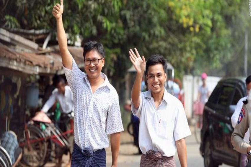 Myanmar Frees Reuters Journalists Wa Lone, Kyaw Soe Oo