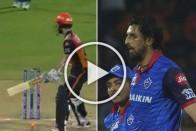 IPL 2019 Eliminator, DC Vs SRH: In A Rare Occasion, 'Nelson' Strikes Twice In Delhi Capitals-SunRisers Hyderabad Match – WATCH