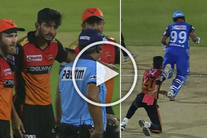IPL 2019 Eliminator, DC Vs SRH: Endless Drama As Amit Mishra Given Out For Obstructing The Field – WATCH
