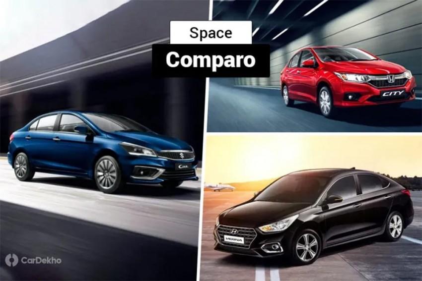 Maruti Suzuki Ciaz Vs Honda City Vs Hyundai Verna: Which Compact Sedan Offers More Space?