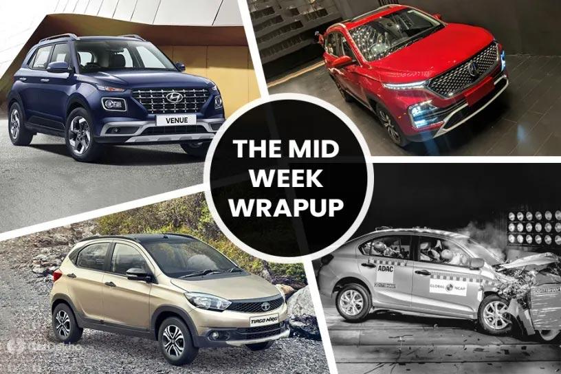 Mid-Week Roundup: Honda Amaze Crash Tested, MG Hector Mild Hybrid's Mileage Numbers Leaked