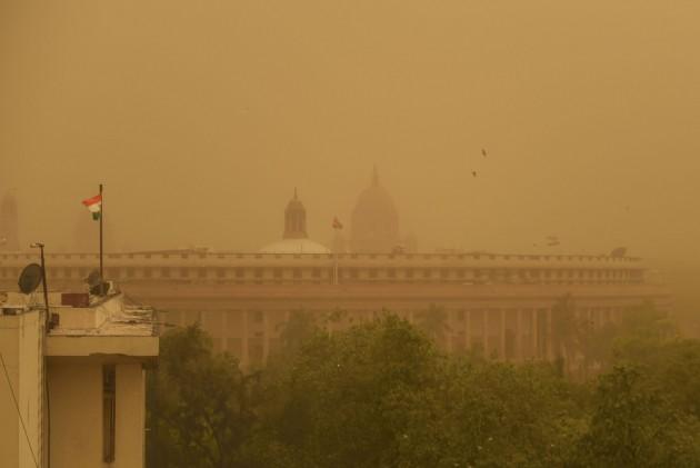 Delhi Airport Flight Operations Hit Due To Severe Dust Storm
