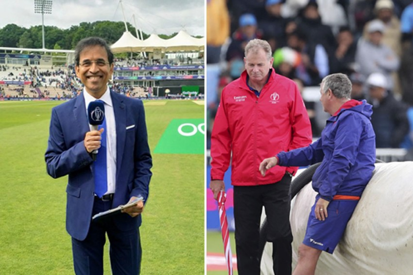 ICC CWC 2019, IND Vs NZ: Harsha Bhogle's Sympathetic 'Sisyphus' Tweet Sums Up Cricket's Predicament On Rain-Soaked Day