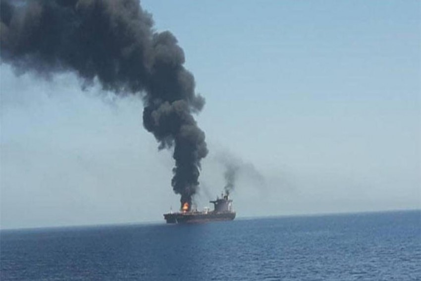 Two Oil Tankers Hit In Gulf Of Oman, Attack Suspected