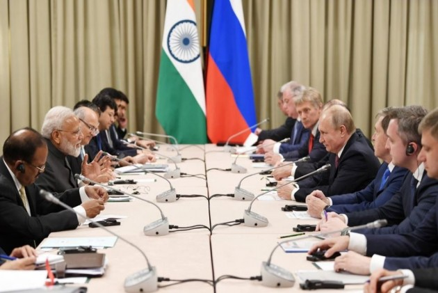 PM Modi Meets Russian President Putin At SCO Summit In Bishkek