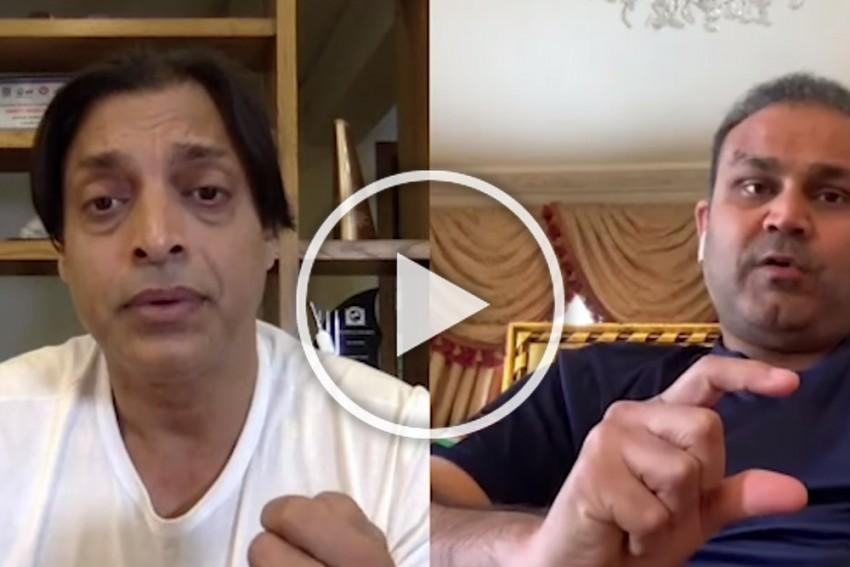 India Vs Pakistan On June 16: 'Beta Beta Hota Hai. Baap Baap Hota Hai' Virender Sehwag's Prediction To Shoaib Akhtar – WATCH