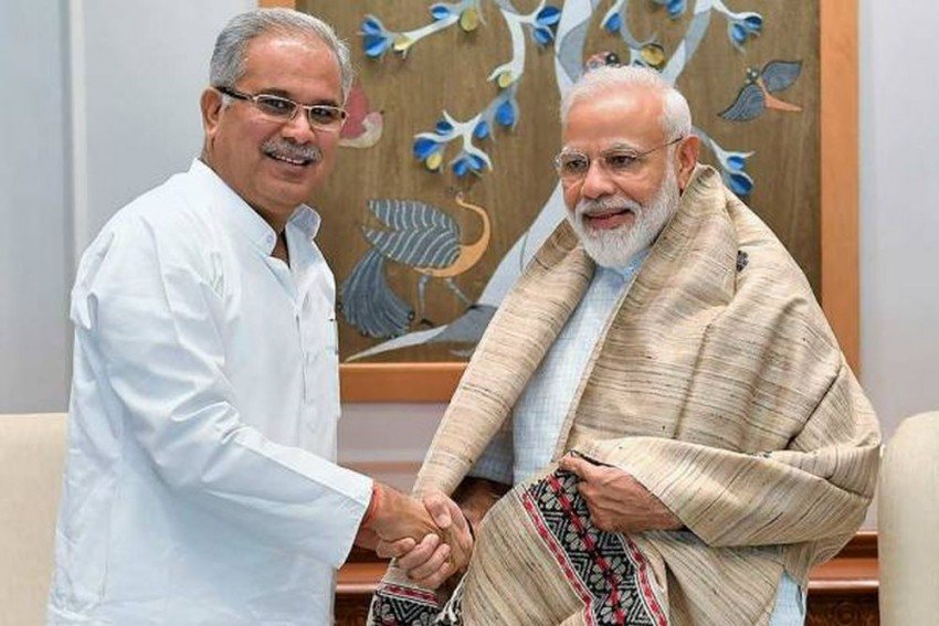 Chhattisgarh CM Bhupesh Baghel Meets PM Modi Over Pending Issues Related To Tribals, Poors