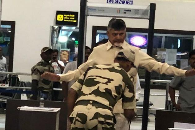 Chandrababu Naidu Frisked At Vijayawada Airport, Denied VIP Access To Aircraft