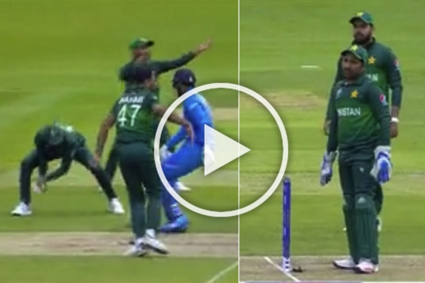 IND Vs PAK, ICC Cricket World Cup 2019: Rohit Sharma, KL Rahul Survive Chaos As Pakistan Commit Epic Blunder – WATCH