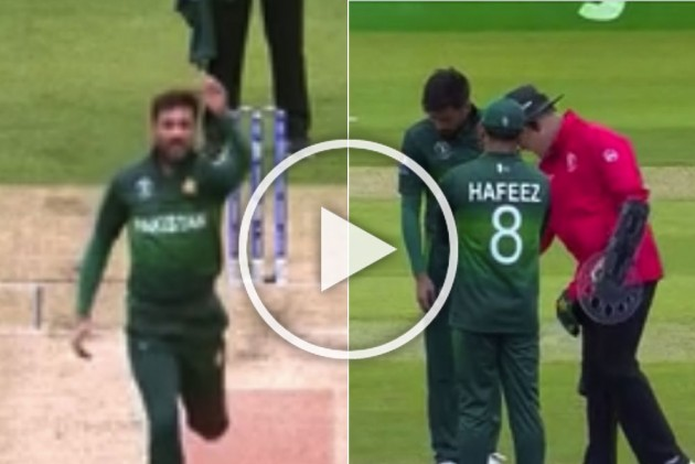 IND Vs PAK, ICC Cricket World Cup 2019: Pakistan Bowler Mohammad Amir Warned Twice For Running Into Danger Zone – WATCH