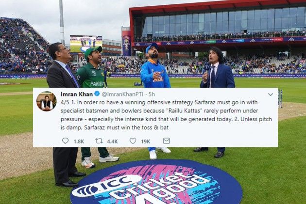 India Vs Pakistan, Cricket World Cup: Imran Khan Advises Sarfaraz Ahmed To Bat First, He Decides To Bowl!