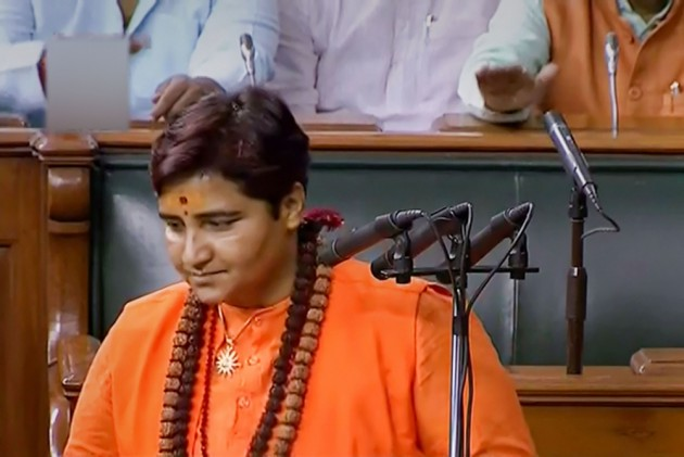 BJP MP Pragya Singh Thakur Creates Controversy Over Her Name During Oath Taking In Lok Sabha