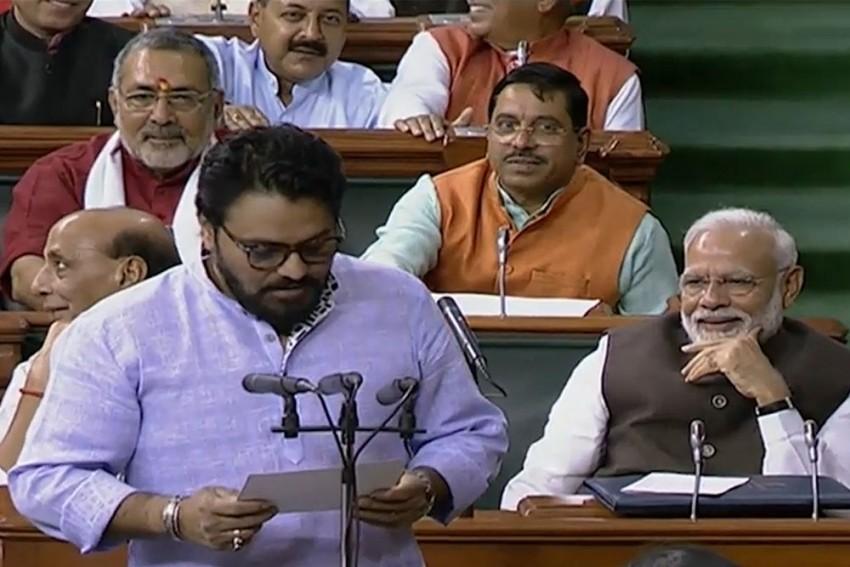 Jai Shri Ram Chants In Lok Sabha As BJP's Babul Supriyo Takes Oath As MP