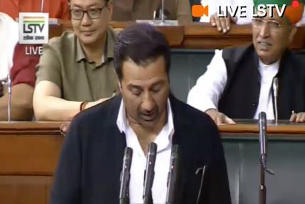 Slip Of Tongue By BJP MP Sunny Deol While Taking Oath As Lok Sabha Member