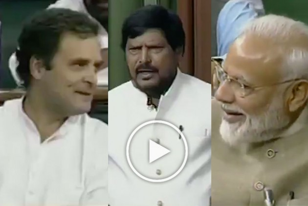 WATCH | Ramdas Athawale's Comment On Congress, 'Modi Wave' Evokes Laughter In Lok Sabha