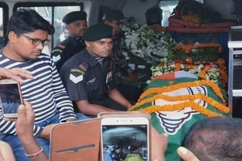 Coffin Of Martyred Soldier Covered With BJD Flag, BJP Demands CM Naveen Patnaik's Apology