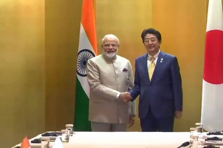 PM Modi, Abe Discuss Global Economy, Disaster Management At G20 Summit