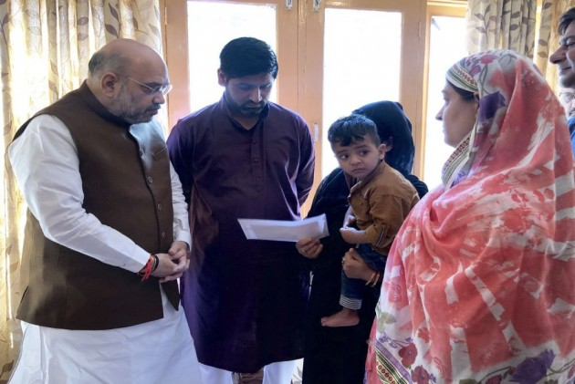 Entire Nation Is Proud Arshad Khan's Valour And Courage: Amit Shah To Slain J&K Police Officer's Family