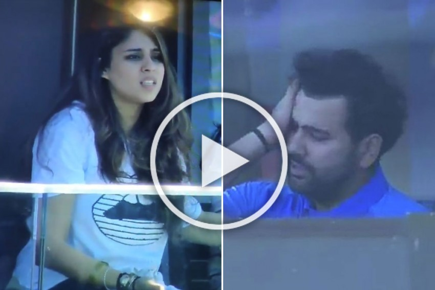 IND Vs WI, ICC Cricket World Cup 2019: Rohit Sharma's Controversial Dismissal Leaves Wife Ritika Sajdeh Shocked – WATCH