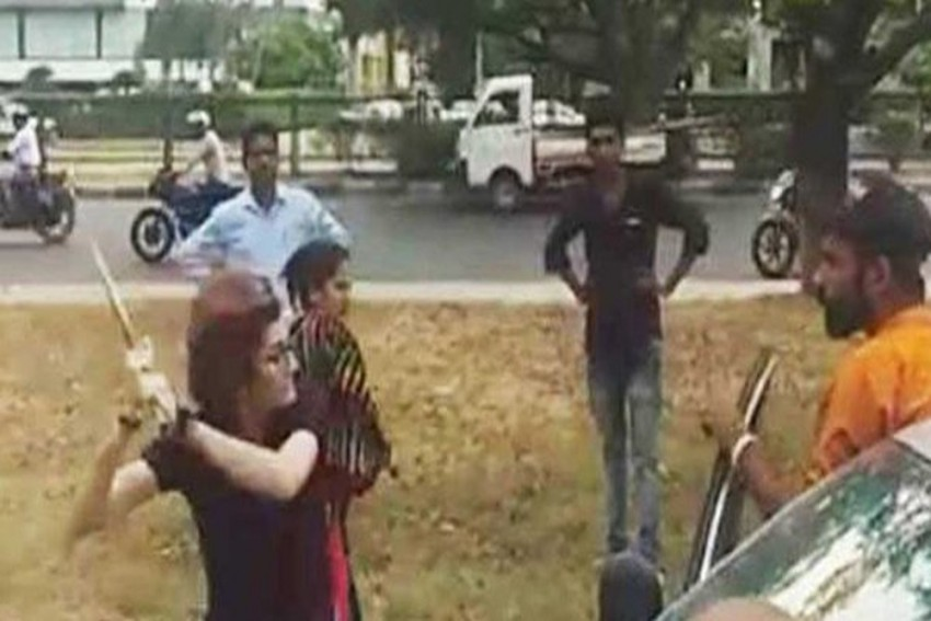 Chandigarh: 25-Year-Old Woman Driver Attacks Man With Iron Rod In Road Rage