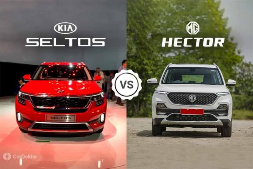 Kia Seltos vs MG Hector: In Pics