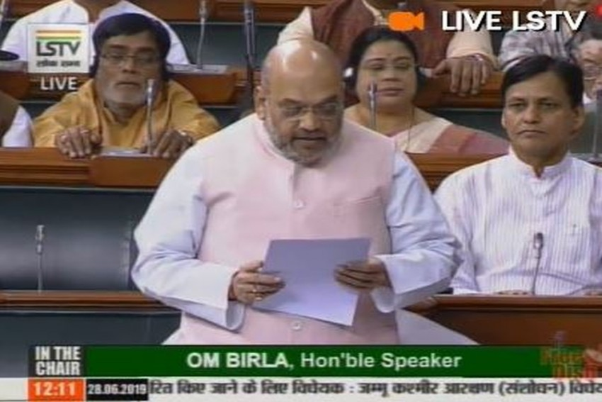 Home Minister Amit Shah Moves Resolution To Extend President's Rule In J&K For Six Months
