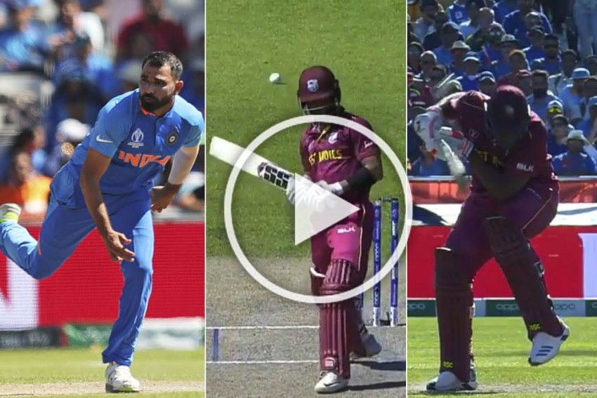 IND Vs WI, ICC Cricket World Cup 2019: Mohammed Shami Dismisses Shai Hope With Dream Delivery, Then Hits Oshane Thomas With Nasty Bouncer – WATCH