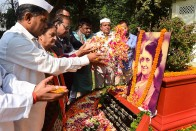 Protests In Uttar Pradesh After Indira Gandhi's Statue Covered With Burqa