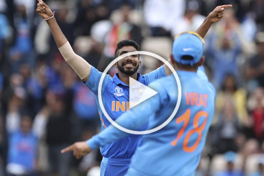 Cricket World Cup 2019, SA Vs IND: Jasprit Bumrah On Fire, Rattles South Africa Brilliant Opening Spell – WATCH