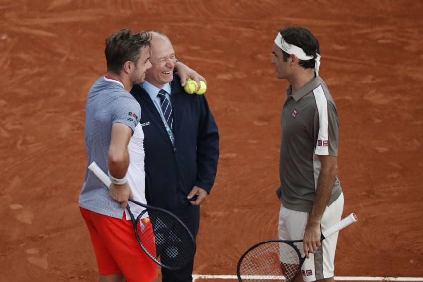 French Open 2019 Roger Federer Ousts Good Friend Stan Wawrinka Sets Up Dream Rafael Nadal Semi Final