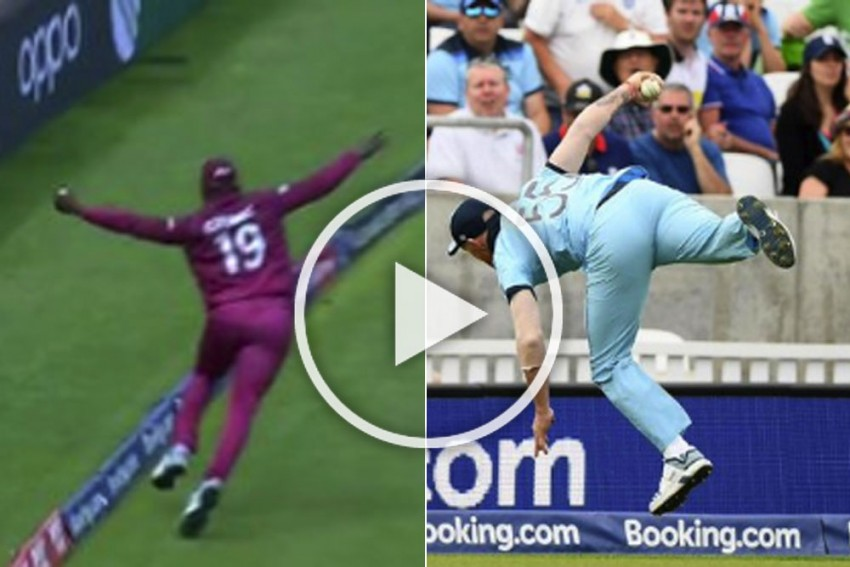 Two Stunning Catches? It's Ben Stokes Vs Sheldon Cottrell For The Best Catch Of Cricket World Cup 2019 – Must Watch Videos